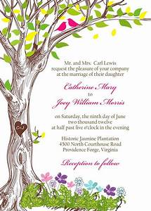 the kate rustic spring tree with love birds wedding With wedding invitations with trees and birds
