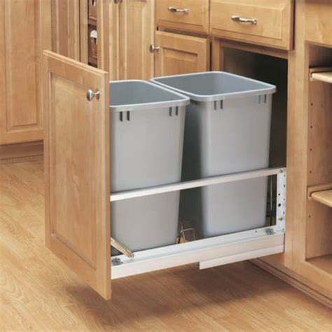 double garbage can cabinet pull cabinet double trash can kitchen ideazz pinterest