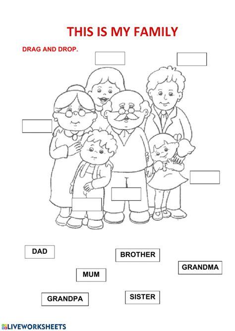 family family members worksheet