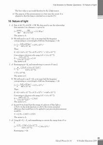 Answers Review Questions Edexcel Chemistry | 2017, 2018 ...