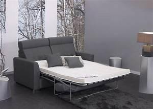 acheter votre canape lit rapido couchage en 140x190 cm With canape lit en cuir contemporain