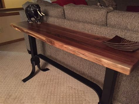Walnut Live Edge Sofa Table  Ohio Hardwood Furniture