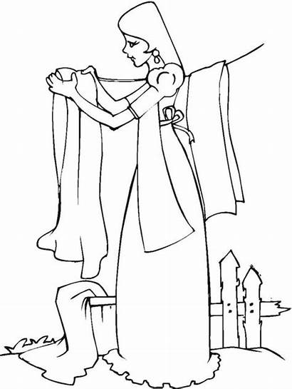 Laundry Clothing Coloring Pages