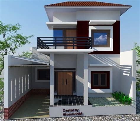 foto rumah minimalis modern tak depan denah rumah 2374