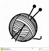Yarn Needles Clipart Vector Wool Knitting Ball Illustrations Balls Cliparts Illustration Format Eps Royalty Depositphotos Knitted Sewing Craft sketch template