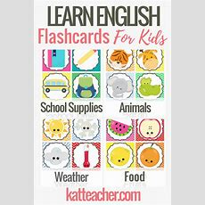 English Flashcards For Kids  Teach Esl With These Cute, Fun Cards