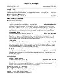 objective for business major resume personal banker resume objectives resume sle writing resume sle writing resume sle