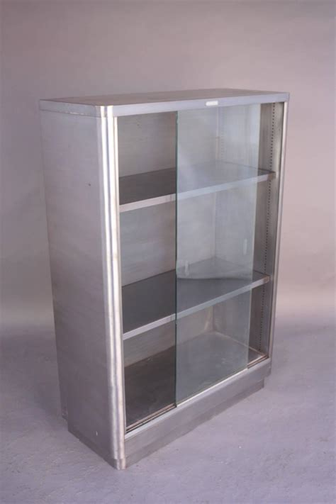 metal and glass bookcase industrial glass front metal bookcase for sale at 1stdibs