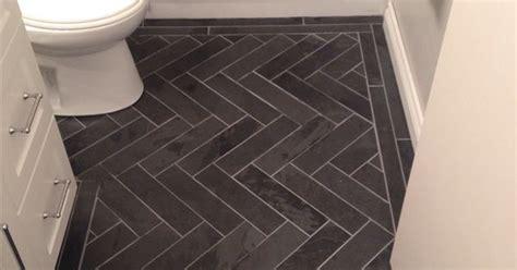 charcoal gray herringbone honed marble floors