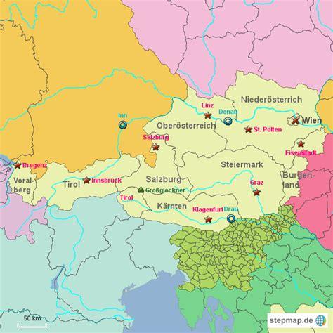 oesterreich bundeslaender von mopmop landkarte fuer oesterreich