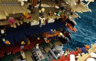 Lego Ship Sinking 3 by Titanic Disaster Model In Lego I M The Minifig Of The
