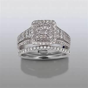 david tutera 1 cttw certified diamond bridal set 14kt With david tutera wedding rings at sears