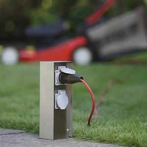 Uhr Für Aussenbereich : steckdose energie s ule verteiler 230v au en garten edelstahl steckdosens ule ebay ~ Orissabook.com Haus und Dekorationen