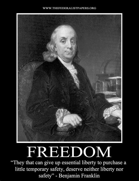 benjamin franklin poster    give  liberty