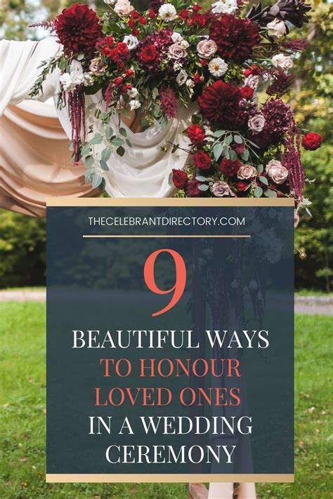 9 Beautiful Ways to Honour Loved Ones in a Wedding