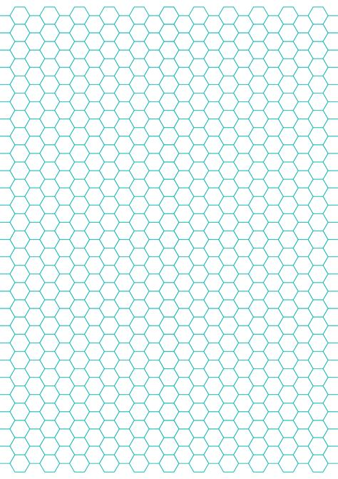 hexagon graph paper    spacing  letter sized