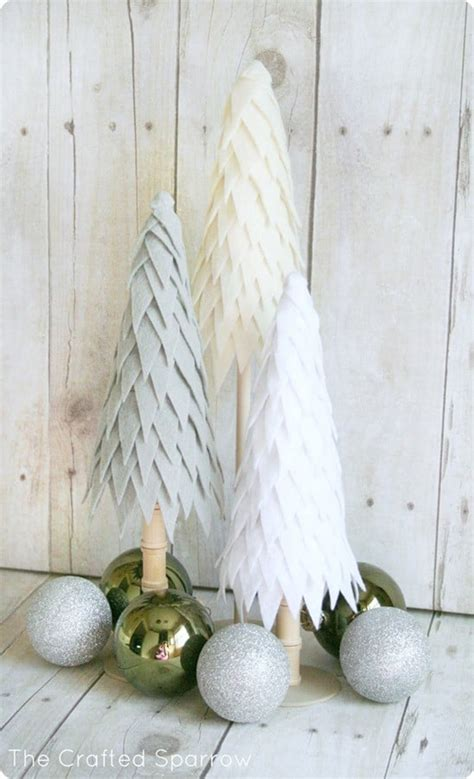 felt christmas trees knockoffdecorcom