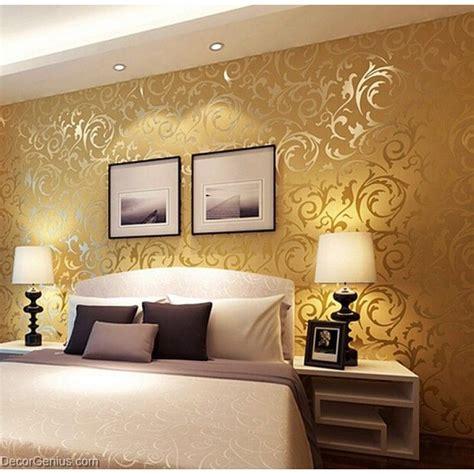 Goldene Tapete Schlafzimmer by Popular 3d Design Dk Gold Bedroom Wallpaper Modern Style