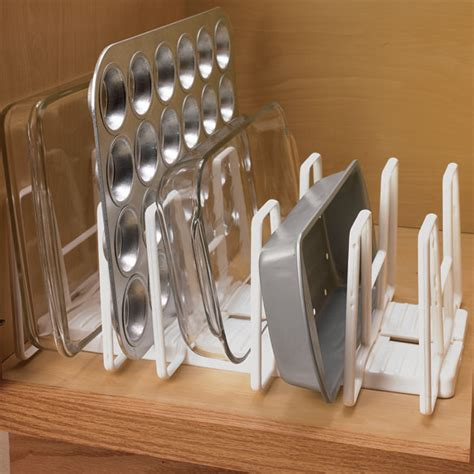 kitchen baking pan storage rack cookie sheet organizer pans casserole dishes  ebay