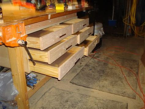 workbench plans drawers  woodworking