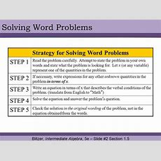 § 15 Problem Solving And Using Formulas  Ppt Video Online Download