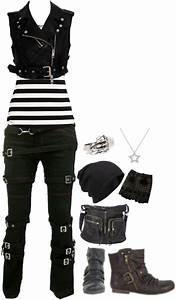 U0026quot;Untitledu0026quot; by little-miss-rocker-chick on Polyvore | Nerd Fashion | Pinterest | Black combat ...