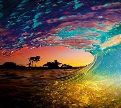 Mobile Wallpapers Phone Sunset Wave 1440 1280