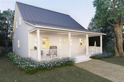 2 Bedroom House Plans With Porches by Cottage Style House Plan 2 Beds 2 Baths 1616 Sq Ft Plan