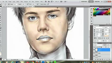 photoshop cs color drawing tutorial youtube