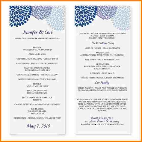 wedding program template word wedding program template microsoft word authorization letter pdf