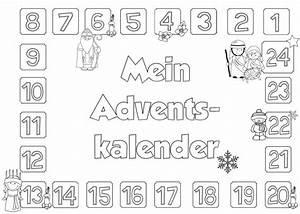 Adventskalender Zahlen Mathe : ideenreise ausmalkalender varianten ~ Indierocktalk.com Haus und Dekorationen
