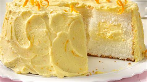 orange cream angel food cake recipe bettycrockercom