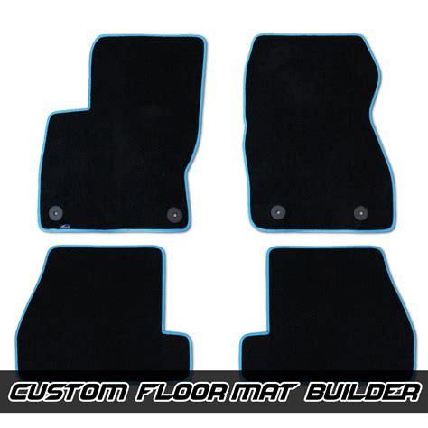 ford focus floor mats ford focus rs st custom fitted velourtex floor mats
