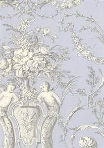 Cherub Toile Wallpaper A traditional wallpaper with ...