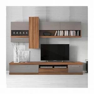 Banc Tv Suspendu : meuble tv lucia gris s jour meuble tv ~ Teatrodelosmanantiales.com Idées de Décoration