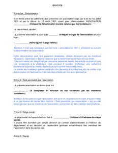 modele statut sci word modele statuts sci