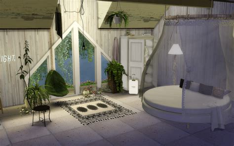 sims  blog circle bed  canopy chanel luggage set