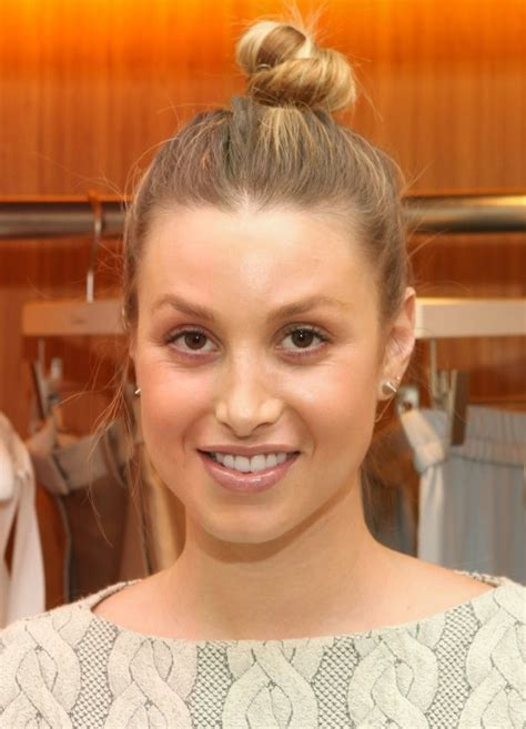 whitney port casual top hair knot hair style hairstyles