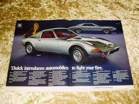 1970 Opel Gt Parts by Purchase 1969 1970 Buick Opel Gt Vtg Original Ad Lot 4