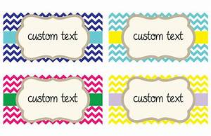 chevron custom storage labels choose your by With free customizable printable tags