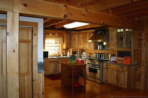 wood kitchen cabinets how to choose kitchen cabinets for your log home 1587