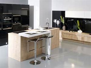 cuisine gentleman cuisines aviva cuisine design avec With cuisine ilot central cuisson
