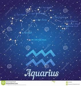 Zodiac Constellation Aquarius - Position Of Stars And ...