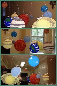 Solar system project. We used two wire coat hangers to ...