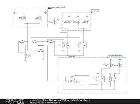 Sand Rail Wiring Schematic sand rail wiring w o turn signals or wipers circuitlab