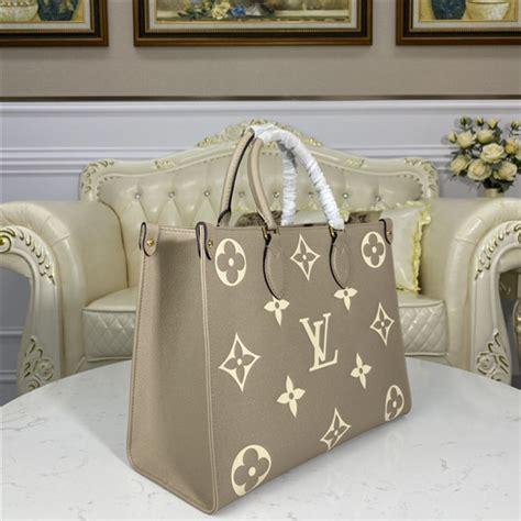 louis vuitton onthego mm monogram empreinte leather tourterelle aaa handbag