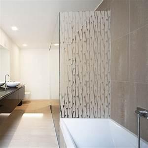 sticker paroi de douche depoli tiges en bourgeon With porte de douche coulissante avec stickers occultant fenetre salle de bain