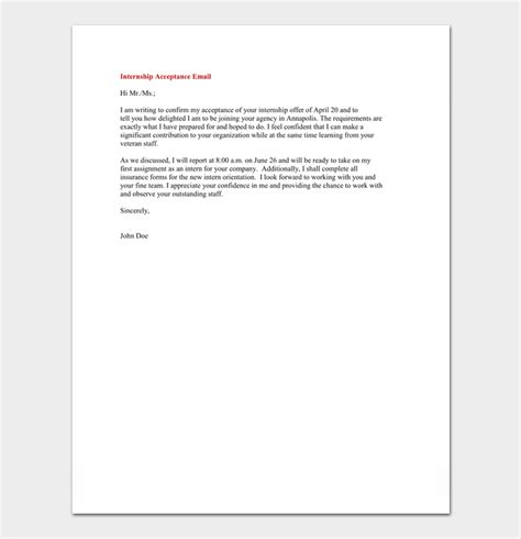 internship appointment letter  letter samples formats