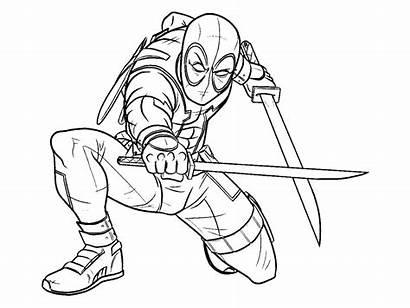 Deadpool Coloriage Enfants Action Marvel Magnifique Heros