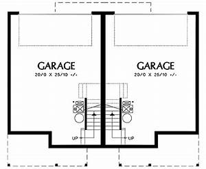 double garage tucked into hillside 69388am With porte garage double dimension